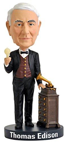 Royal Bobbles Thomas Edison Bobblehead with Glow-in-the-Dark Light Bulb