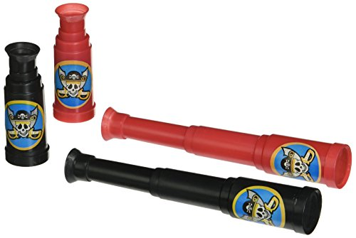 Rhode Island Novelty 5″ Pirate Telescopes, 12-Pack