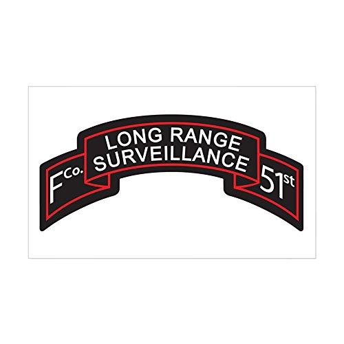 (CafePress F Co 51st Infantry LRS Scroll Rectangle Sticker Rectangle Bumper Sticker Car Decal)