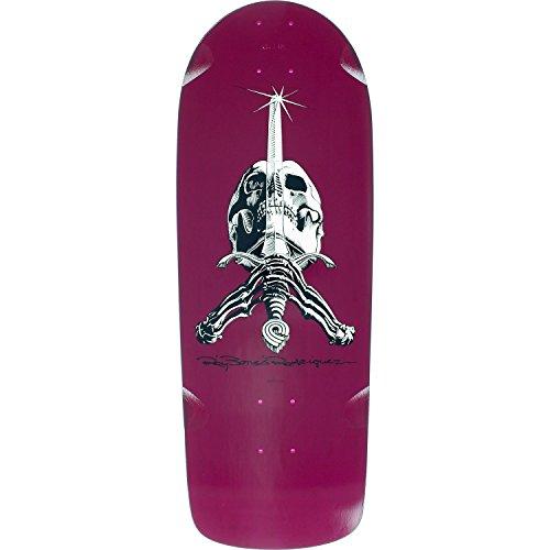 Powell-Peralta Ray Rod Skull/Sword Og Snub Deck -10x28.2 Pur Assembled as Complete Skateboard