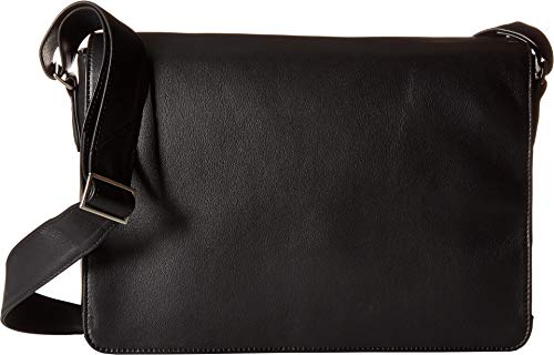 Scully Unisex Avery Messenger Bag Black Crossbody Bag