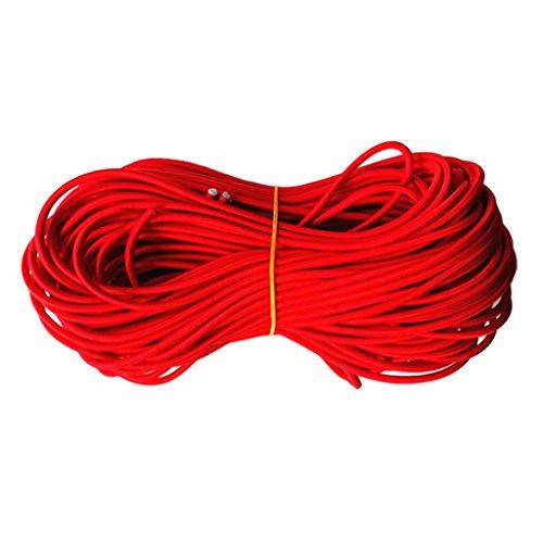 咽頭結果ハンカチPerfk 赤色 ラウンド 強力 弾性ロープ ショックコード DIY アクセサリー ルーフラック レーラー ボート用 全9サイズ