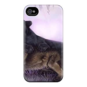 Premium DXwFyNr4805ucSQY Case With Scratch-resistant/ Cougar Wolf Case Cover For Iphone 4/4s
