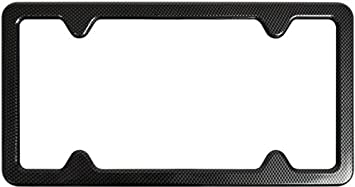 Custom Accessories 92818 Black License Plate Frame with Bracket