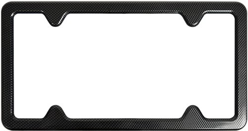 Custom Accessories 92820 Carbon Fiber License Plate Frame with Bracket
