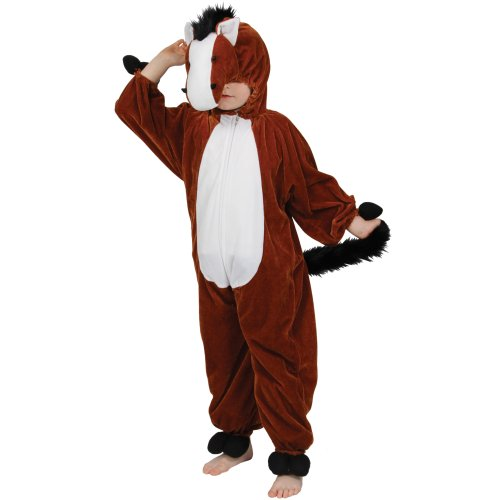 [Childrens Farm Animal Boys Or Girls Fancy Dress Costume Horse (9-10 years)] (Costumes For Horses Uk)