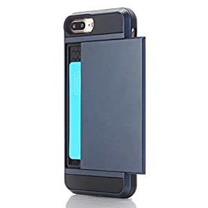 iPhone 5 Case,Berry Impact Resistant Hybrid iPhone 5s Plus Wallet Case Shell Shockproof Rugged Rubber Bumper Anti-Scratch Hard Cover Skin Card Holder for iPhone 5 5s se