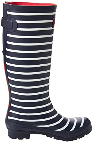 de Tom Wellyprint French para Botas Blau Stripes Fnavstp Navy Mujer Agua Joule qFFwtrO