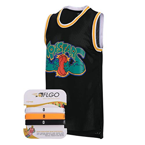 AFLGO Monstars 0 Space Jersey Include Set Wristbands S-XXL Black (Black, S)]()