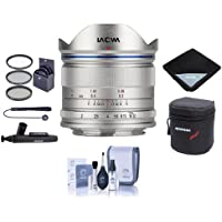 Venus Laowa 7.5mm f/2 Lens for Micro Four Thirds Mount, Silver - Bundle With 46mm Filter Kit, Lens Case, Cleaning Kit, Lens Wrap, Capleash II, LensPen Lens Cleaner