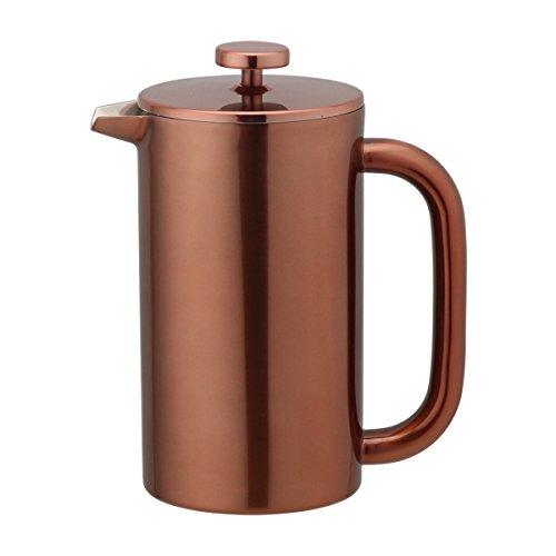 Highwin 8-Cup/34-Ounce Double Wall Insulated Stainless Steel French Coffee Press, Durable Coffee Tea Maker with Stainless Steel Plunger (Brown Double Insulated Teapot)