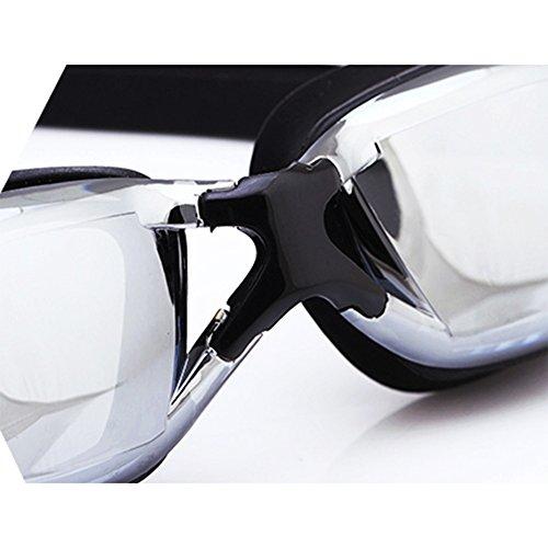 La HD De Y Marco Plata Impermeable Gafas Natación Antivaho QY Grande Unisex Durable Pingguang wZ7WqStnR