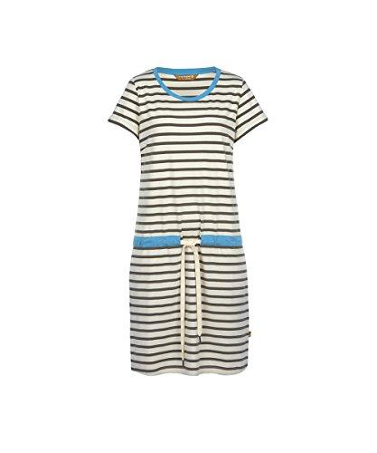 406419 blau Finside offwhite Sommerkleid gestreift poseidon Damen weiß kurzarm Offwhite Pirjo Sage TwgqzHwR