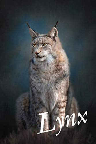 Lynx: Cute Animal Notebook for Kids, Notebook for Students, Notebook for Coloring Drawing and Writing (110 Pages, Lined, 6 x 9) (Cute ()