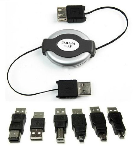 USB Travel Kit 1394 Firewire Cable 6 Adapters A/b