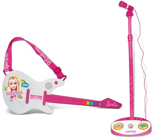 IMC TOYS Barbie - Combo guitarra eléctrica + micrófono de pie
