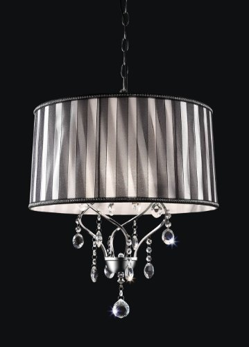 Contemporary DeCOR' 20.50''H Lady Crystal Ceiling Chandelier Lamp Collection
