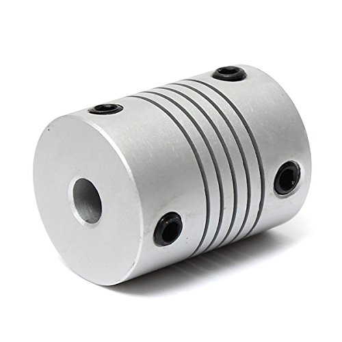 5mm x 5mm Aluminum Flexible Shaft Coupling OD19mm x L25mm CNC Stepper Motor Coupler Connector SINGLE ITEM by MAUBHYA (Image #2)