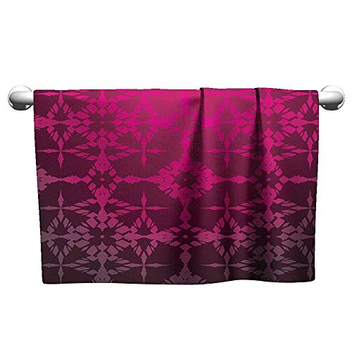 Bensonsve Floral Hand Towels Magenta,Victorian Stylized Classical Bound Ornamental Mosaic Patterns in Nostalgic Design,Rosewood,Bra Towel for Women