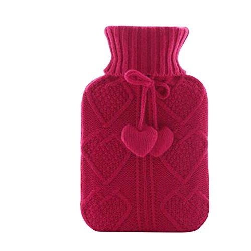 Herz-Strick-waschbare weiche Abdeckung Safe-Heißwasser-Flasche Bag-A02