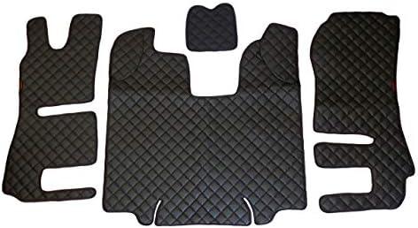 24 / 7Auto Eco Leder Motorabdeckung + Fußmatten für Scania R LKW Automatikgetriebe 2014-2016