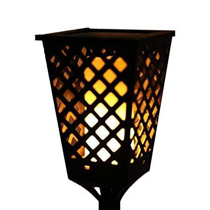 JEEJEX Solar Torch Garden 51LED Light Dancing Fire Flame Landscape Lamp Waterproof