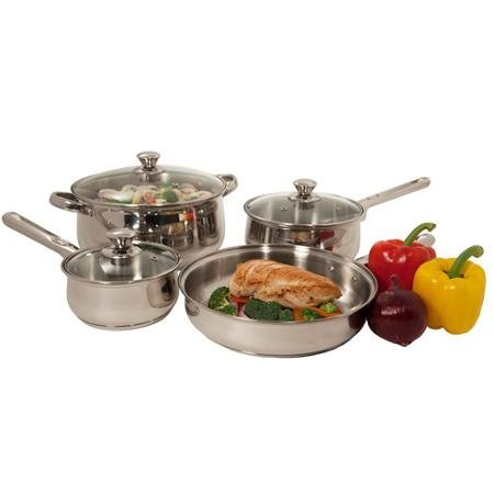Heuck 7-Piece Cookware Set with Hollow Handles, Stainless Steel