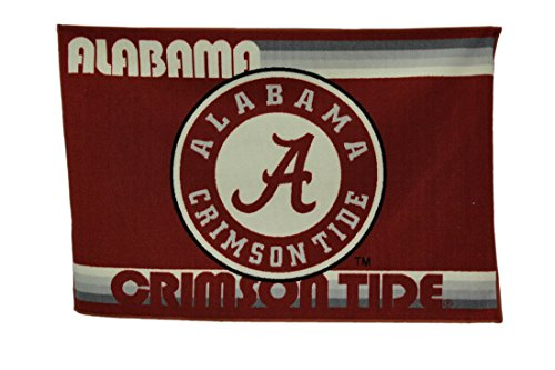 NCAA University of Alabama Crimson Tide 39 by 59 Inch Tufted Non-Skid Area Rug