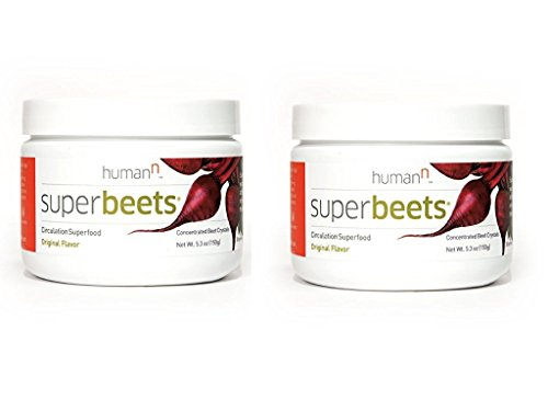 HumanN SuperBeets Circulation Superfood Concentrated Beet Powder Nitric Oxide Boosting Supplement (Original Flavor, 5.3-Ounce, 2-Pack)