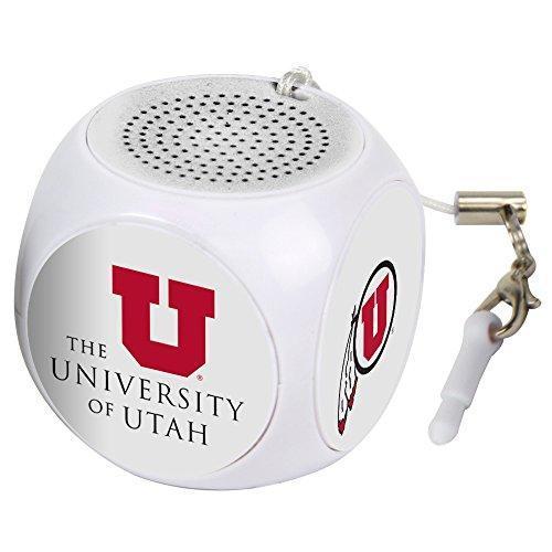 AudioSpice NCAA Utah Utes MX-100 Cubio Mini Bluetooth Speaker, White, One Size from AudioSpice