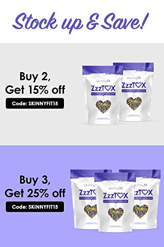 SkinnyFit ZzzTox Nighttime Detox Tea: Caffeine-Free, All-Natural, Laxative-Free, Chamomile, Lavender, Vegan, Non-GMO, Gluten-Free, 28 Servings - Release Toxins Before Bedtime for a Restful Sleep by SkinnyFit (Image #7)