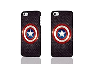 Captain America Shield Metal Photo Hard 3D Rough Case , Fashion Image Case Diy, Personalized Custom Durable 3d Case For iPhone 4 & iPhone 4S