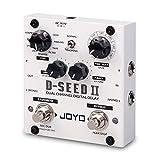JOYO D-SEED-II Delay and Looper, Dual Channel Digital Delay, Guitar Floor Multi Effects Pedal