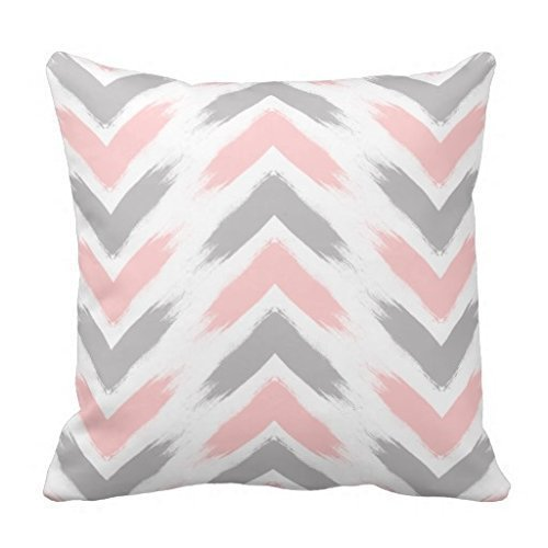 jiuden 18 x 18 Modern Pastel Pink Gray Arrow Brushstrokes Pattern Throw Pillow Decorative Throw Pillow Case Cushion Cover Lmunxuy