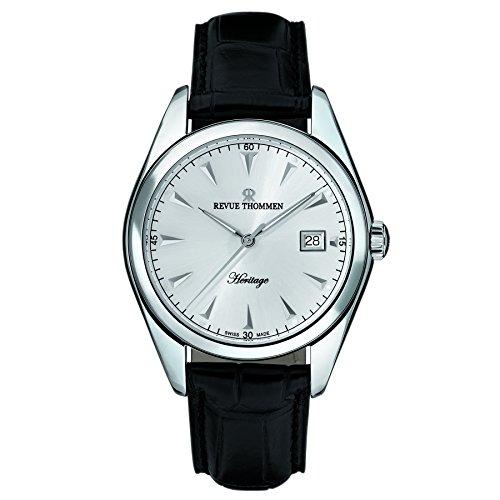 Revue Thommen Men's 21010-2532 Heritage Analog Display Swiss Automatic Black Watch