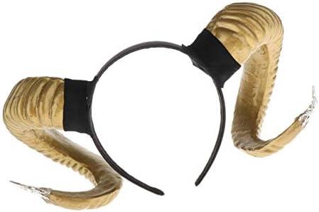 chiwanji Schafe Horn Haarreif Stirnband Gothic Lolita Kopfschmuck Kopfst/ück f/ür Halloween