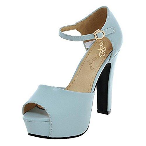 Coolcept Women High Heel Sandals Shoes Blue-07 gaQMA