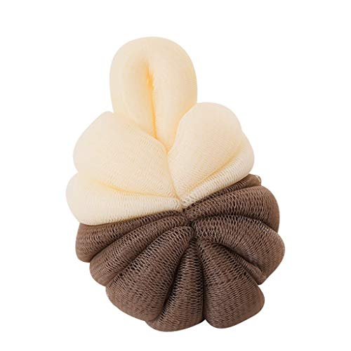 ng Two-Tone Loofahs Exfoliating Mesh Ball Body Bath Pouf Shower Wash Cleanse Soft for Men and Women(Coffee) ()