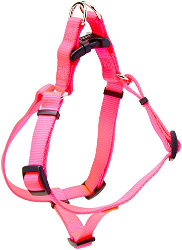 Coastal Pet Products DCP6445NPK Nylon Comfort Wrap Adjustable Dog Harness, 5/8-Inch, Neon Pink