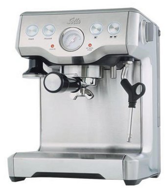 Solis Grind & Infuse Pro Independiente Manual Máquina espresso Acero inoxidable - Cafetera (Independiente,
