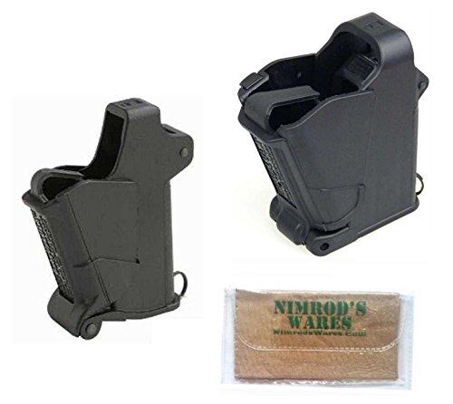 Nimrod's Wares Butler Creek UpLULA 9mm-45ACP 24222 + Baby UpLULA .22-.380 24223 Loaders in Black Microfiber Cloth ()