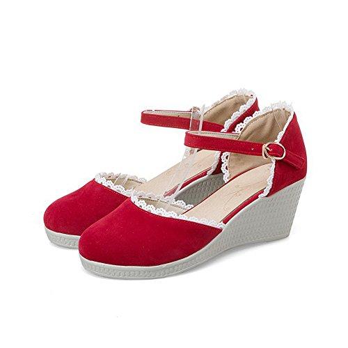 36 5 Sandales Femme Rouge AdeeSu Red Compensées pBwx4Xnqqz