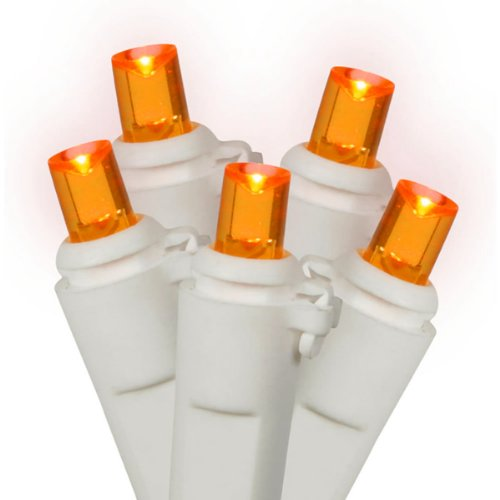 NorthLight LED Orange Wide Angle Christmas Lights - White Wire44; Set Of 100...