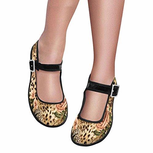 InterestPrint Womens Comfort Mary Jane Flats Casual Walking Shoes Multi 8 ap5LQKn