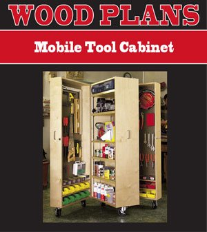 MOBILE TOOL CABINET WOODWORKING PAPER PLAN PW10077