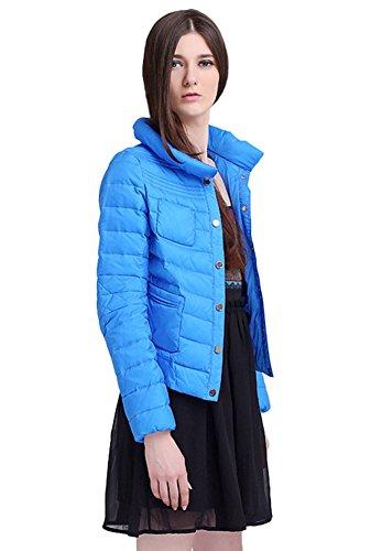 Insun - Abrigo - Manga Larga - para mujer Azul