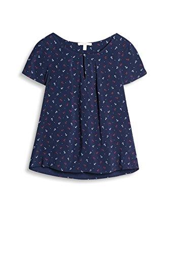 ESPRIT 037ee1f042, Blusa para Mujer Multicolor (Navy)