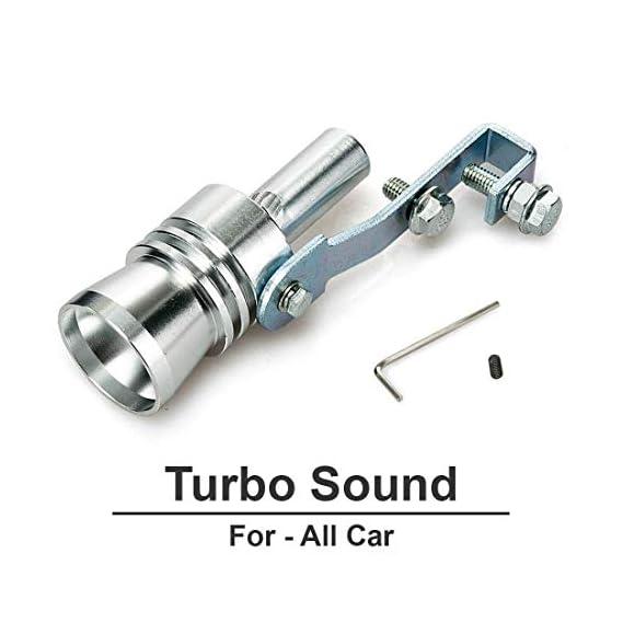 Vocado Chrome Kunjzone Turbo Sound Car Silencer Whistle for Universal Cars Medium