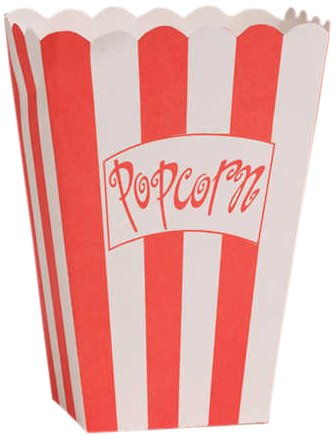 [Creative Converting Lights, Camera, Action!  Popcorn Boxes, 8-Count] (Popcorn Costume)