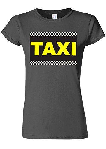 拮抗革命フォーラムTaxi Cab Funny Novelty Charcoal Women T Shirt Top-XXL